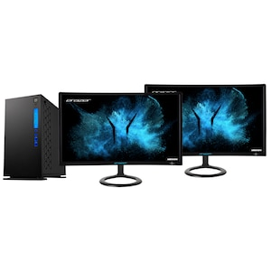 MEDION® ERAZER® Engineer P10 Core Gaming PC + 2x ERAZER® X52471 59,8 cm (23,6'') Curved Widescreen Monitor