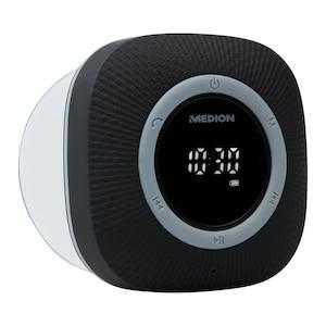 MEDION® LIFE® P66096 Duschradio, LED-Display, UKW-Radio, IPX6 Schutz, Bluetooth® 5.0, 30 W Ausgangsleistung  (B-Ware)