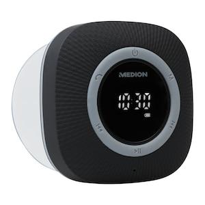 MEDION® LIFE P66096 Doucheradio (Zwart)   LED-display   FM   IPX6 bescherming   Bluetooth 5.0   30 W uitgangsvermogen  (Refurbished)