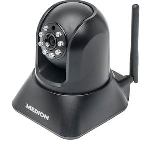 MEDION® LIFE® P86019 Kabellose Netzwerk-IP-Überwachungskamera, VGA-Video-Auflösung, CMOS Farbsensor, Bewegungserkennung, Nachtmodus, schwenkbar