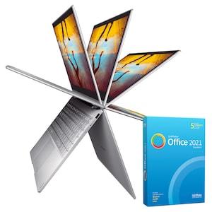 MEDION® AKOYA S4401T Convertible Laptop | Intel Core i3 | Windows10Home | Intel HD Graphics | 14 inch Full HD | 8 GB RAM | 256 GB SSD & SoftMaker Office Standard 2021