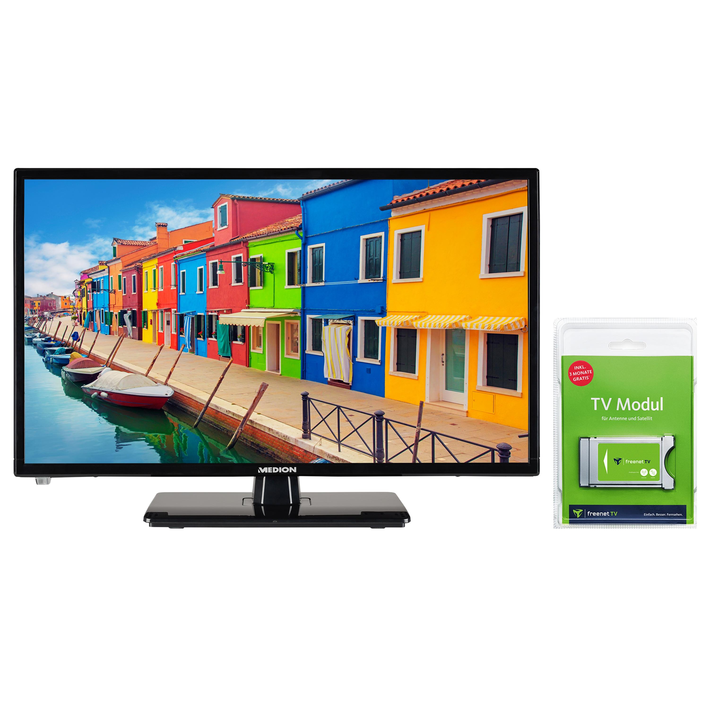 MEDION® LIFE® E12442 LCD-TV, 59,9 cm (23,6'') Full HD Fernseher, inkl. DVB-T 2 HD Modul (3 Monate freenet TV gratis) - ARTIKELSET