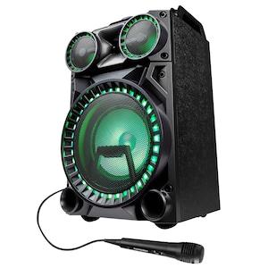 MEDION® LIFE® X64030 Bluetooth® party-speaker met drumpads | microfoon | LED-verlichtingseffecten | krachtige bas | gitaarinput