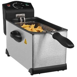 MEDION® Friteuse MD 18084 | 2000 watt | 3 liter | Van 130-190 °C | Oververhittingsbeveiliging | RVS