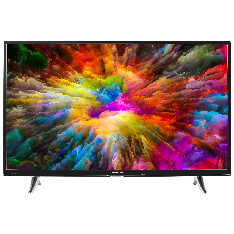 MEDION® LIFE® X15555 Smart-TV, 138,8 cm (55'') Ultra HD Display, HDR, Dolby Vision™, Netflix, Amazon Prime Video, DTS HD, HD Triple Tuner, CI+