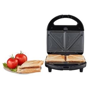 MEDION® 3 in 1 Sandwichmaker MD 19788, Sandwich, Waffel oder Panini, antihaftbeschichtete Wechselplatten, max. 750 Watt, wärmeisolierter Griff