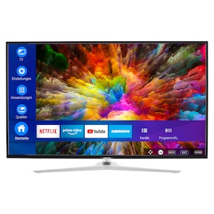 MEDION® LIFE® X14330 Smart-TV, 108 cm (43'') Ultra HD Display, HDR, Dolby Vision™, Micro Dimming, MEMC, PVR ready, Netflix, Amazon Prime Video, Bluetooth®, DTS HD, HD Triple Tuner, CI+