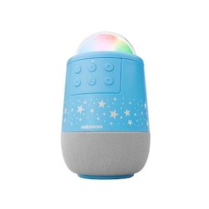 MEDION® LIFE® E61194 Sternenhimmelprojektor, projiziert Sterne in verschiedenen Farben, spielt Schlaflieder und Naturgeräusche, integrierter Akku, microSD-Kartenleser für Musik uvm.  (B-Ware)