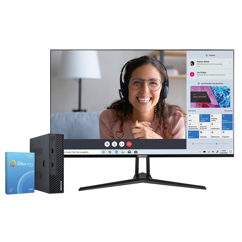 MEDION® BundelDEAL ! AKOYA® Mini PC S23002 & P53290 31,5'' Monitor