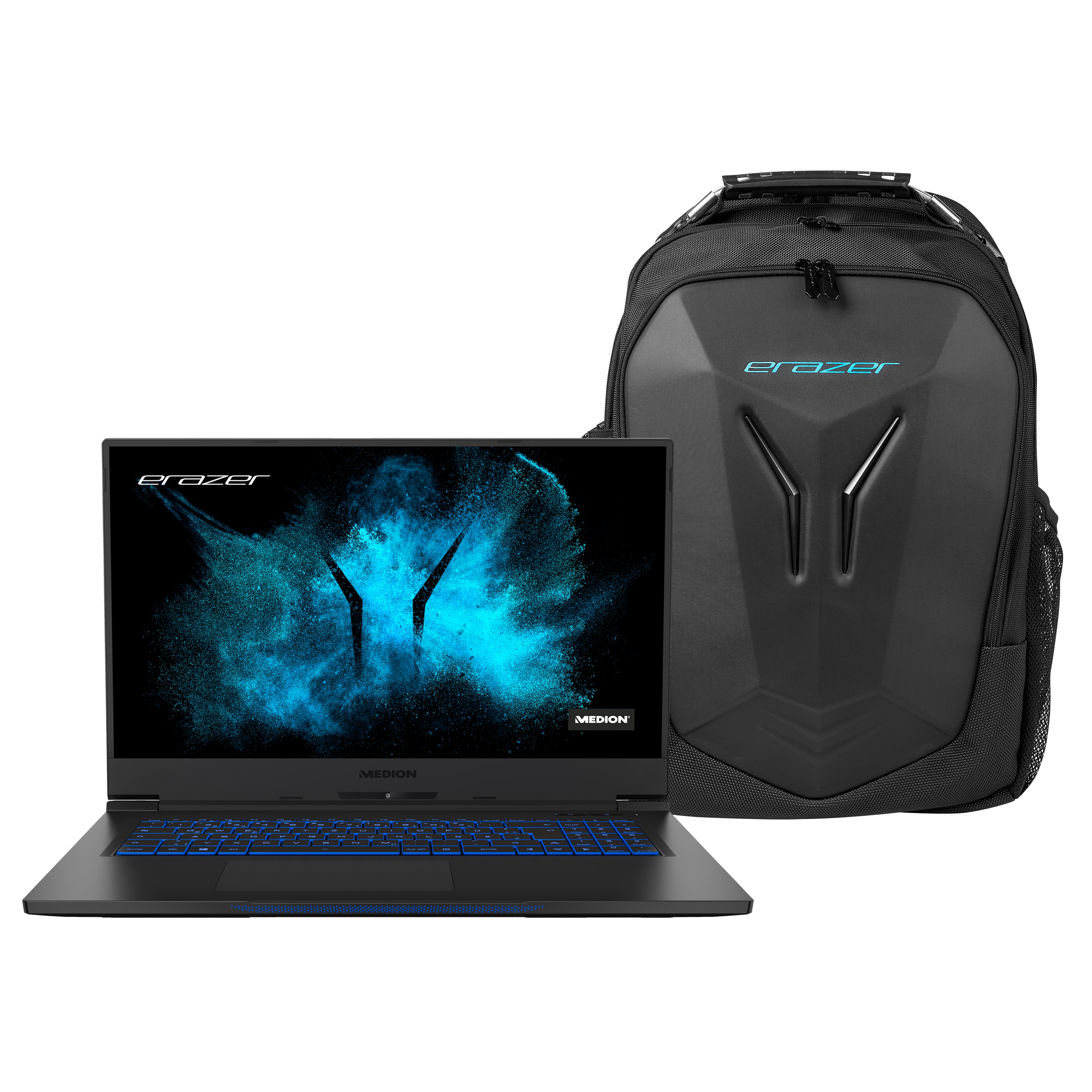 MEDION® Offre combinée ! ERAZER Beast X10 | Intel Core i7 | Windows10Famille | GeForce RTX 2070 Super | 17,3 pouces Full HD | 32 Go | 1 To SSD & X89077 Sac à dos Gaming