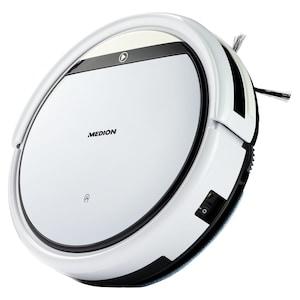 MEDION Robot stofzuiger met dweilfunctie MD 18501 | Programmeerbaar | 2600 mAh accu | Afstandsbediening | virtuele muur | voor gladde vloeren en tapijt | automatisch terug naar oplaadstation