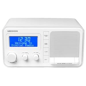 MEDION® DAB+ LIFE E66397 Radio | LC-display | Houtlook behuizing | PLL-FM | Wekker | USB oplaadfunctie | 20 Watt