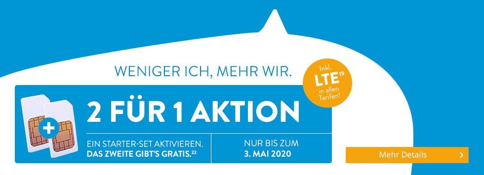 2 FÜR 1 AKTION bei ALDI TALK - Nur bis zum 3. Mai 2020
