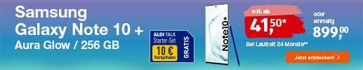 ALDI TALK - Top Angebot: Samsung Galaxy Note 10 Plus für 899 Euro