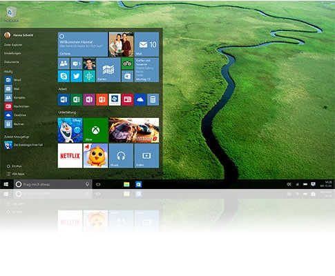 Windows 10 Home screen